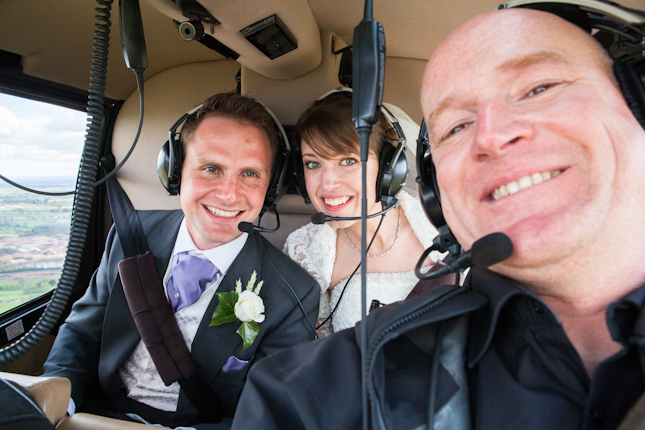 Not quite Heli-Skiing but a Heli-Wedding