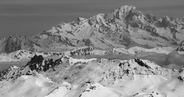 Mont Blanc across from Meribel