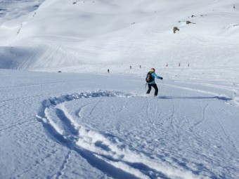 Powder skiing in Meribel