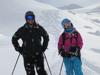 Off-piste skiing on Mont Vallon