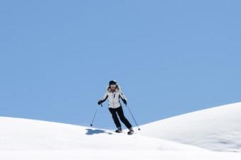 Lady C skiing Spring snow